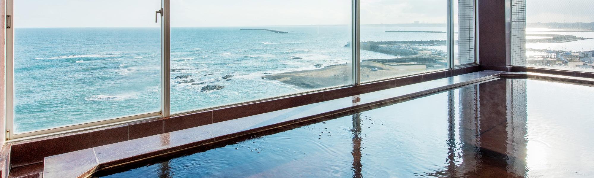 海の見える浴場
