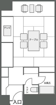 和室の見取り図